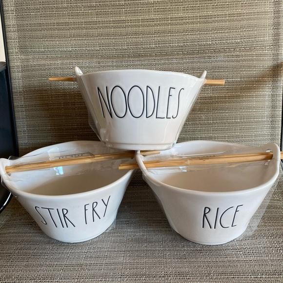 rae dunn 3 bowls